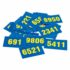 Number Card BG 8006