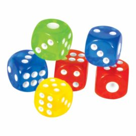 Transparent Dice set of 4 DF 4003